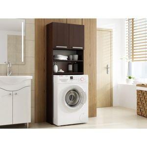 Skrinka do kúpeľne s možnosťou uloženia práčky wenge