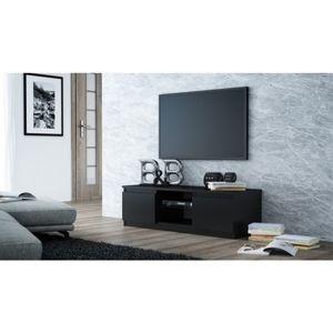 TV stolík LCD glass 120 cm čierna lesklá