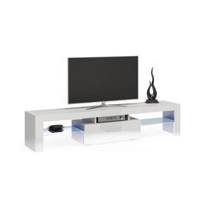 Stolík pod televízor DEKO 160 cm biely
