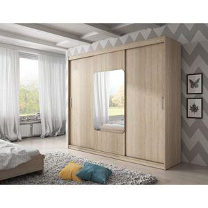 Kvalitní šatní skříň KOLA 8 dub sonoma šířka 250 cm Bez LED osvětlení