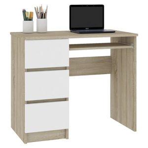 Počítačový stôl A-6 ľavý sonoma/biely