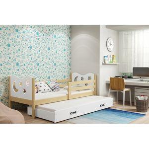 Detská posteľ s výsuvnou posteľou MIKO 190x80 cm